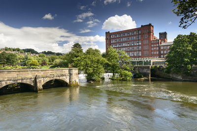 Industry in the Heart of England with a pretty river