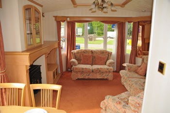 Holiday Park Caravan in the North East of England