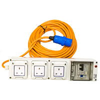 Mains electric kit for tents